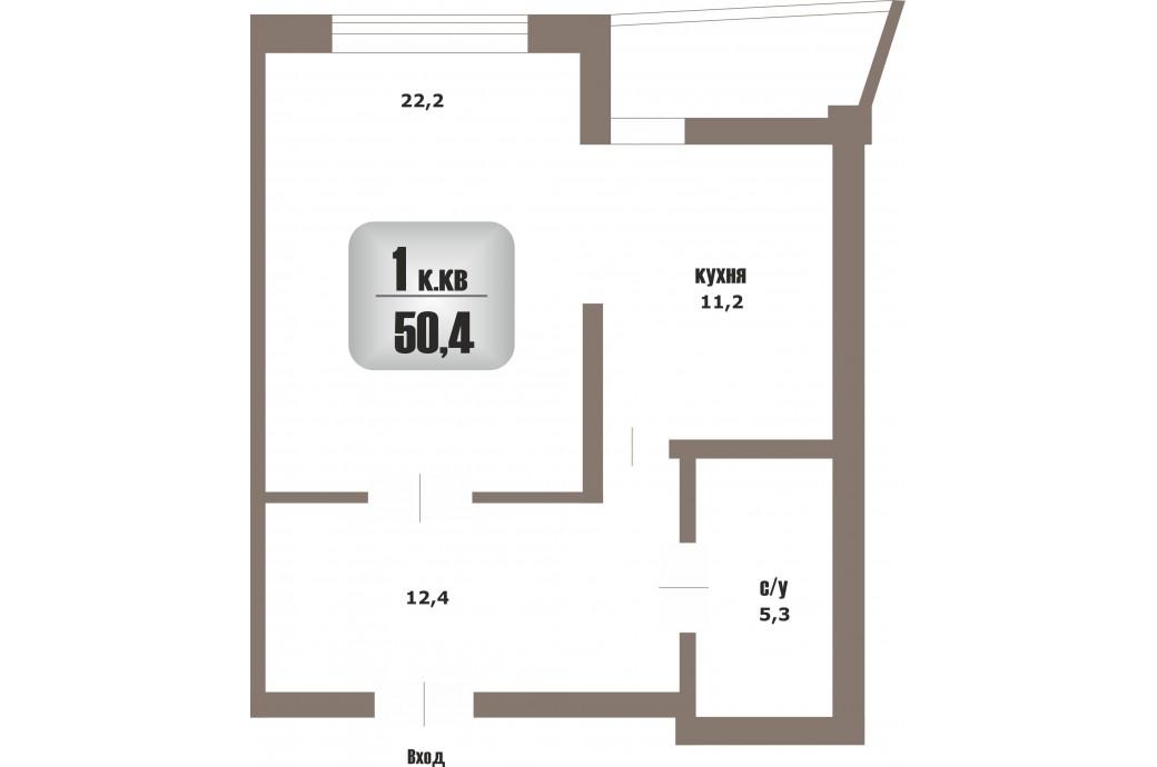 """1 комнатная квартира, ул. Юмашева, 15 (ЖК """"Адмирал"""")"""